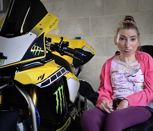 Alison loves watching motorbike racing