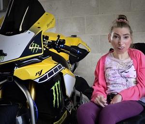 Alison loves watching motorbike racing